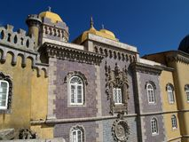 Pena palace in Portugal Royalty Free Stock Photos