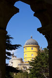 Pena Palace seen through an arch Royalty Free Stock Photography