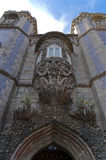 Pena palace in sintra. Exterior view of the famous pena palace in sintra Royalty Free Stock Photo