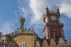 Pena palace in sintra Royalty Free Stock Photos