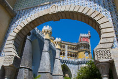 Pena Palace in Sintra. The arch of Pena Palace in Sintra. Portugal Royalty Free Stock Photography