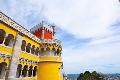 Pena Palace in Sintra. Stock Images