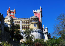 Pena Palace, Sintra (Portugal) stock photography