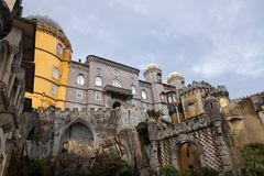 Pena palace in Sintra, Portugal Royalty Free Stock Photos