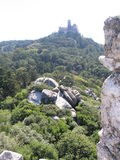Pena Palace - Sintra - Portugal. The Pena Palace over a hill as seen from the moors castle Royalty Free Stock Photography