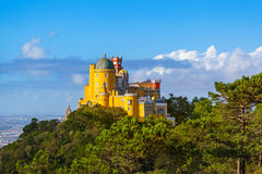 Pena Palace in Sintra - Portugal. Architecture background Royalty Free Stock Images