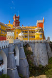 Pena Palace in Sintra - Portugal. Architecture background Royalty Free Stock Photography