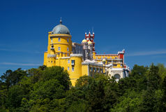 Pena Palace in Sintra, Portugal. Colorful Pena Palace in the Sintra hills, Portugal Stock Image