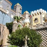 Pena Palace. Sintra, Portugal Stock Images