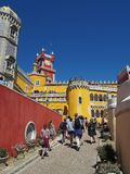 Pena Palace in Sintra Portugal. Royalty Free Stock Images