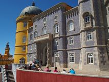 Pena Palace in Sintra Portugal. Royalty Free Stock Photo