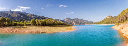 Pena Reservoir Panorama Royalty Free Stock Photo