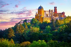 Εθνικό παλάτι Pena σε Sintra Πορτογαλία στοκ φωτογραφίες με δικαίωμα ελεύθερης χρήσης