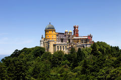 Pena in Sintra. Famous palace of Pena in Sintra, Portugal Stock Image