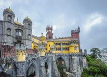 Pena slott, sintra, portugal Fotografering för Bildbyråer