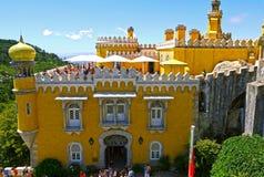 Pena slott, Sintra portugal Fotografering för Bildbyråer