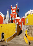 Pena slott, sintra, portugal arkivbilder