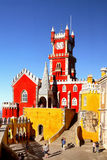 Pena slott Sintra, Portugal Arkivfoton