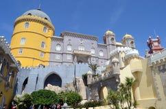 Pena slottkupol och vägg, Sintra, Portugal Royaltyfri Foto