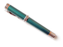 Pena verde da tinta Imagens de Stock Royalty Free