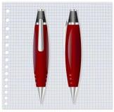 Pena vermelha Fotografia de Stock