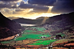 Pena-y-Passe, Wales Imagem de Stock