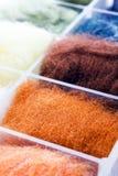 Penachos de las lanas antes del batanado Imagen de archivo libre de regalías