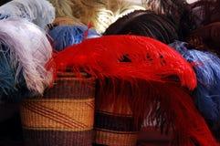 Penachos del sombrero Imágenes de archivo libres de regalías