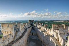Penafiel城堡,巴里阿多里德,西班牙 库存图片