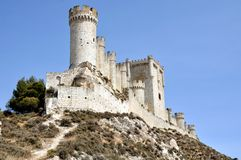 Penafiel Castle. Valladolid, Spain created in the 10th century and located at the Hill Stock Photo
