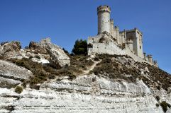 Penafiel Castle. Valladolid, Spain created in the 10th century and located at the Hill Royalty Free Stock Photography