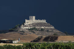 Penafiel Castle, Valladolid. Province, Castile and Leon, Spain Royalty Free Stock Photo