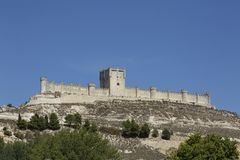 Penafiel Castle in Valladolid, Spain. Penafiel Castle, in Valladolid, Spain Stock Photos