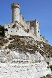 Penafiel Castle (Vertical). Penafiel Castle, Valladolid, Spain created in the 10th century and located at the Hill Stock Images