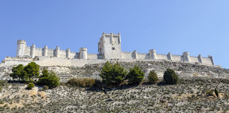 Penafiel-Schloss, Valladolid-Provinz, Spanien Lizenzfreies Stockbild