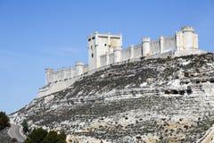 Penafiel-Schloss, Valladolid-Provinz, Spanien Lizenzfreie Stockfotos