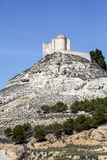 Penafiel-Schloss, Valladolid-Provinz, Spanien Stockfotografie