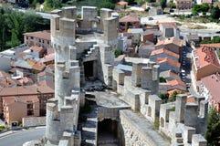 Penafiel slott som tas från insidan Royaltyfri Bild
