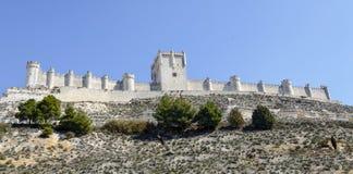 Penafiel slott, Valladolid landskap, Spanien Royaltyfri Bild