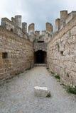 Penafiel slott, Valladolid Spanien Arkivfoton