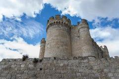 Penafiel slott, Valladolid Spanien Fotografering för Bildbyråer