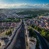 Penafiel slott, Valladolid, Spanien Fotografering för Bildbyråer