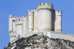Penafielkasteel, de Provincie van Valladolid, Spanje Royalty-vrije Stock Foto's