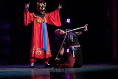 Penal servitude-nuo dance-Acrobatic showBaixi Dream Night Stock Photography