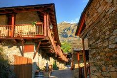 Penalba de Santiago, a typical village in the valley of silence Stock Photos