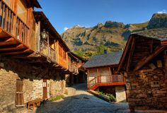 Penalba de Santiago, a typical village in the valley of silence Royalty Free Stock Photo