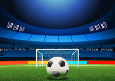 Penalidade do estádio de futebol Fotos de Stock
