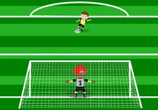 Soccer player kicking Penalty. Illustration of a football penalty. You can find different kids or children playing sports in my portfolio Stock Photo