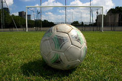 Penalty. Soccer ball and goal just before the penalty Royalty Free Stock Photography
