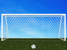 Penalty area with blue sky Stock Photography